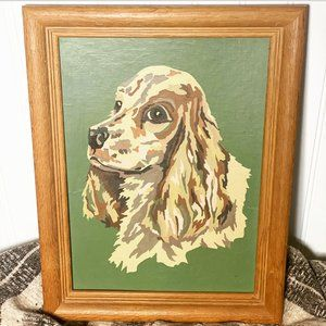 Vintage Paint By Number Cocker Spaniel Painting